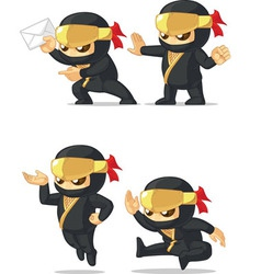 Ninja customizable mascot 8 vector