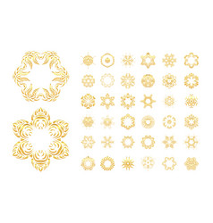 Ornamental gold oriental mandal vector