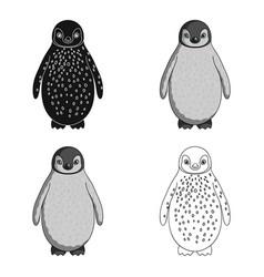 Penguinanimals single icon in cartoon style vector
