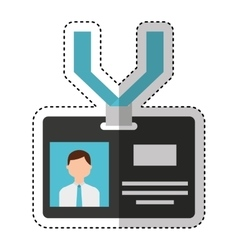Press badge id isolated icon vector image vector image