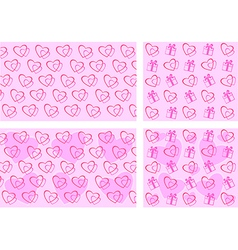 Set backgrounds Valentines Day vector image vector image