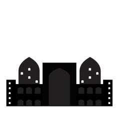 Silhouette of Arab buildings sea clouds vector image vector image