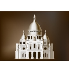 The sacred basilica sacre coeur in france - 4 vector
