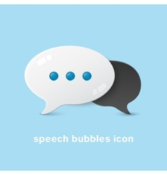 Two volume bubble clouds vector image vector image