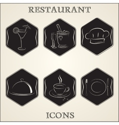 vintage retro restaurant vector image vector image