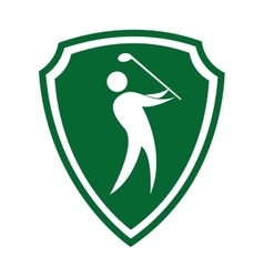 Golfer silhouette player isolated icon vector
