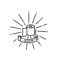 Toilet paper saving icon vector image