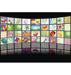 multimedia center presentation vector image