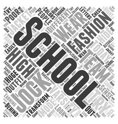 Fashion high school word cloud concept vector