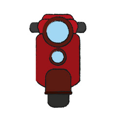 Red scooter icon image vector