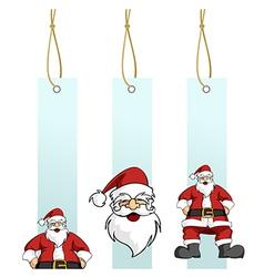 Christmas series Santa Claus character in hanging vector image