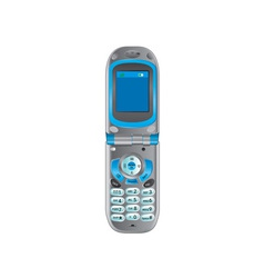 Flip phone retro vector