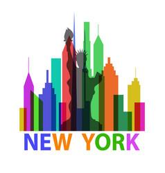 New york poster vector