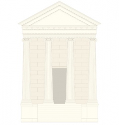 Antiquities greek temple vector
