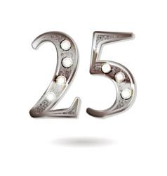 25 years anniversary celebration design vector