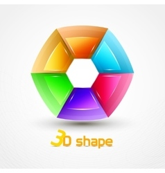 3d shape abstract icon vector