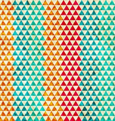 Colored triangle seamless pattern vector