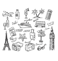 Travel stack sketch vector