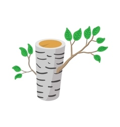 Birch icon cartoon style vector