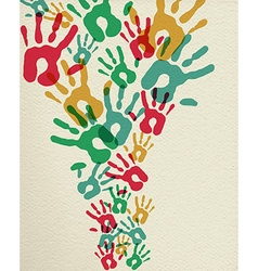 Diversity community art hands concept vector