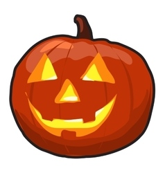 Pumpkin isolated with grin vector