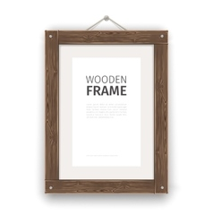 Old wooden rectangle frame light vector