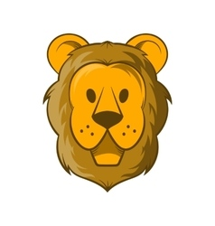 Head of lion icon cartoon style vector