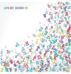 Alphabet Background color vector image