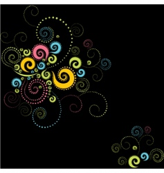background twirls vector image vector image