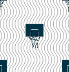 Basketball backboard icon sign Seamless pattern vector image
