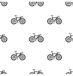 Bicycle icon in black style isolated on white vector