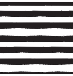 Black and white paint brushstrokes seamless vector image vector image