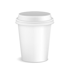 blank white realistic coffee cup mockup isolated vector image vector image