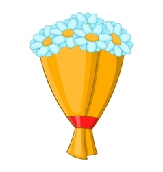 Bouquet of flowers icon cartoon style vector image