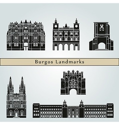 Burgos landmarks and monuments vector image vector image