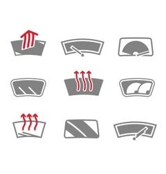 Car window icons vector