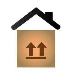 carton box delivery service vector image vector image