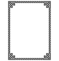 Celtic knot braided frame - rectangle vector