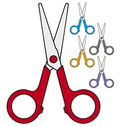 Children scissors vector