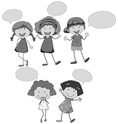 Children speaking vector image vector image