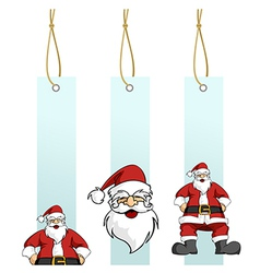 Christmas series Santa Claus character in hanging vector image