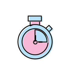 clock alarm to know the hour time vector image