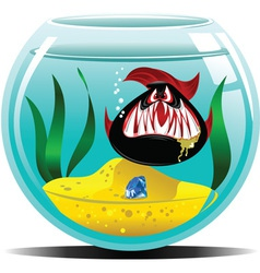 diamond in the aquarium vector image vector image