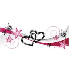 Hearts wedding vector image vector image