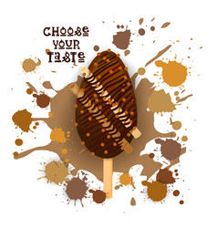 ice cream lolly colorful dessert icon choose your vector image vector image
