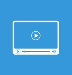 Interface of simple video player with icons vector image vector image