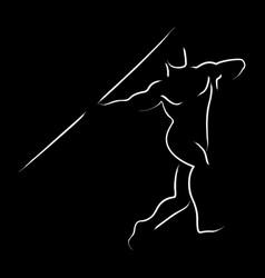 Javelin throw vector