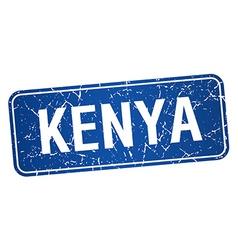 Kenya blue stamp isolated on white background vector