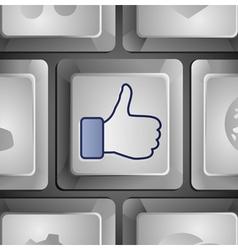 Like button - social media concept vector