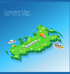 Map russia isometric concept vector